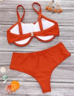 Gorgeous Dark Red Snap Closure Swimsuit High Cut Leg Comfort Fit