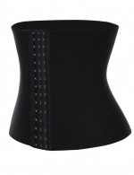 Figure Shaping Black Queen Size Waist Cincher 16 Steel Bones Compression
