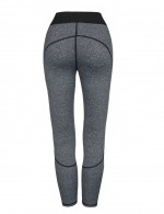Mesh Patchwork Long Workout Tights Romance Grey Workout