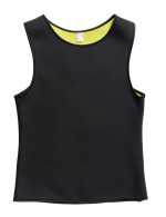 Sweat Burner Large Seamless Men Neoprene Black Shaping Vest