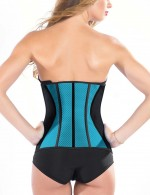 Blue 9 Bones Latex Waist Trimmer With Hooks Queen Size Slimming Waist