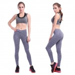 Ankle Length Shrink Resistant Light Grey Yoga Legging Feminine Fashion