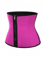 Post Surgery Rose Red Large Size Zipper Waist Shaper Neoprene Moderate Control