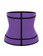 Simplicity Purple Large Size Underbust Neoprene Shapewear Hooks Visual Effect