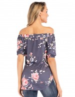Outstanding Off The Shoulder Tie Top Floral Grace