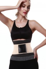 Compression White Fitness Waist Trimmer Slimming