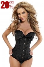 Black Plus Size Strapless Bridal Corsets