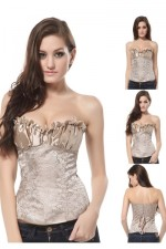 Nude color Strapless Shapping corset