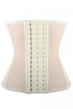 Breathable 9 Steel Boned White Slimming Latex Waist Cincher