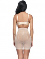 Mesh High Waisted Big Booty Shaper With Hooks Waist Slimmer