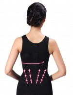 Skin-Friendly Black Tourmaline Seamless Vest Shaper Sleeveless Slimmer
