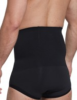 Black Bamboo Charcoal High Waist Male Butt Lifter Midsection Control