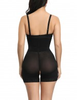 Super Faddish Black Hook Front Plus Size High Waist Body Shaper