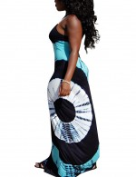 Light Blue Queen Size Adjustable Strap Maxi Dress Sling African Sale
