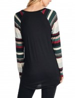 Nautically Letter Pattern Full Sleeve Crew Neck Shirt Modern Fashion