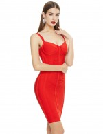 Remarkable Red Wholesale Beauty Woman Fashion Summer Sexy Bandage Dress