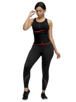 Slim Waist Red Neoprene Waist Shaper Sticker Steel Bones Secret Slimming