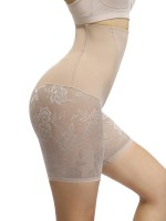 Light Control Nude Color High Rise Lace Patchwork Butt Lifter
