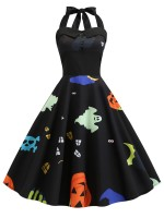 Affordable Black New Design Halloween Women's Retro sexy Dress