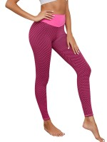 Slim Legs Pink High Rise Athletic Leggings Full Length Distinctive Look