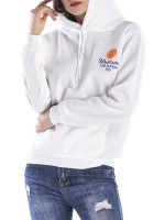 Appropriate White Long Sleeve Letter Print Sweatshirt Classic