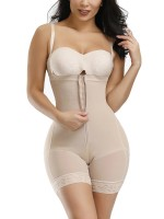 Skin Color Full Body Shaper Two Plastic Bones Straps Firm Compression