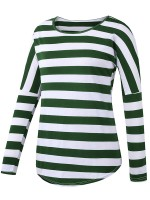 Functional Green Round Collar Shirt Full Sleeve For Strolling