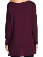 Modest Purple Shirt V-Collar Elk Print Baggy Online
