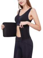 Strengthen Black Solid Color Postpartum Abdominal Band Breathable