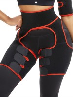 Neoprene Thigh Trainer Red Rough Surface With Sticker Custom Logo
