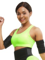2 Pieces Repel Sweat Arm Shaper Black Neoprene Ultimate Stretch