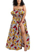 Exquisitely African Suit Off Shoulder Full Length Lady Fashion