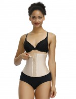Stylish Skin Color Latex 13 Steel Bones Waist Cincher Midsection Compression