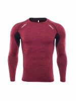 Allover Red Long Sleeve Men's Athletic Top Feminine Romance