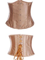 Comfort Devotion Gold Plus Size Steel Boned Corset Lace-Up