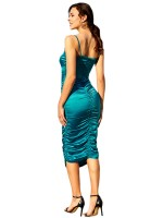 Bewitching Green V Neck Spaghetti Strap Bodycon Dress Women