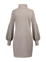 Particularly Gray Mini Length High Collar Sweater Dress Going Out Outfits