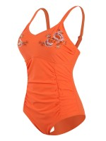 Picturesque Orange Solid Color Queen Size Swimwear Super Sexy