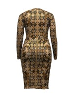 Incredibly Bodycon Dress Plus Size Long Sleeves Chic Trend
