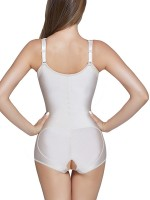 Breathable White Shoulder Straps Large Latex Shapewear