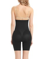 Black Seamless Solid Color Maternity Panty Buckle Firm Foundations