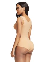 Skin Color Flat Tummy Front Hook Full Body Shaper High Compression