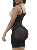 Black High Waist Full Body Shaper Mesh Hidden Curves