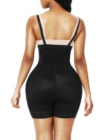 Butt Lifter Black High Waist Lace Removable Pads Firm Compression