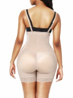 Skin Color Adjustable Straps Open Crotch Body Shaper Tummy Training