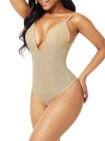 Nude Plus Size Low-Back Thong Body Shaper Ultimate Stretch