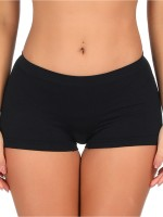 Black Hollow Out Butt Lifter Panty Low Rise Smooth Silhouette