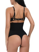 Seamless Black High-Waisted Panty Lifter 4 Plastic Bones Lose Weight