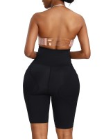 Magic Boost Black High Rise Butt Lifter Solid Color Ladies