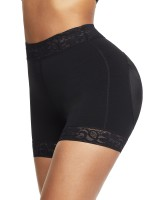 Black High Waist Lace Butt Enhancer Panty Secret Slimming
